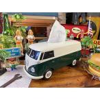 ワーゲンバスのティッシュボックス(ツートンダークグリーン) ■ アメリカン雑貨 アメリカ雑貨 ティッシュケース