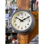 オレンジピールフィニッシュ・スモールウォールクロック(グレー) ■ アメリカン雑貨 アメリカ雑貨 壁掛け時計