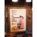 ポスターフレーム(ビッグボーイ&ハンバーガー) アメリカ雑貨 アメリカン雑貨 おしゃれ インテリア雑貨 ポスター 人気 壁掛け キャラクター