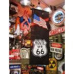 ルート66&星条旗タペストリー(ブラック) アメリカ雑貨 アメリカン雑貨 おしゃれ 人気 フラッグ 壁掛け