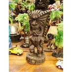 ハパウッドのハワイアンティキ Sサイズ(マネー/金運・お金の神) アメリカ雑貨 アメリカン雑貨 ハワイ雑貨 ハワイアン雑貨