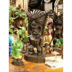 ハパウッドのハワイアンティキ Lサイズ(マネー/金運・お金の神) アメリカ雑貨 アメリカン雑貨 ハワイ雑貨 ハワイアン雑貨