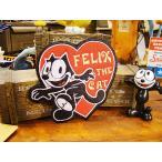 フィリックスのワッペン(ハート) アメリカ雑貨 アメリカン雑貨 エンブレム アイロン キャラクター ファッション アメカジ ロゴ おしゃれ 人気