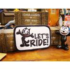 フィリックスのワッペン(LET'S RIDE!) アメリカ雑貨 アメリカン雑貨 エンブレム アイロン キャラクター ファッション アメカジ ロゴ おしゃれ 人気