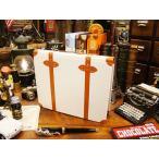 アンティークトランクのコレクションアルバム(ホワイト) アメリカ雑貨 アメリカン雑貨