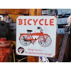 バステッドナックルガレージの標識タイプのU.S.ヘヴィースチールサイン(自転車) アメリカ雑貨 アメリカン雑貨