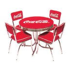 コカ・コーラブランド ローテーブル&チェアー フルセット アメリカ雑貨 アメリカン雑貨