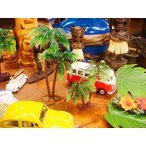 南の島のヤシの木のオブジェ2個入り/大と小のセット) アメリカ雑貨 アメリカン雑貨 ハワイグッズ ハワイアン雑貨 おしゃれ 人気 おもしろ
