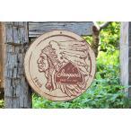 昔のアドバタイジングのウッドサイン(イロコイビアー) アメリカ雑貨 壁掛け インテリア おしゃれな部屋 カントリー雑貨 ナチュラル