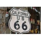 昔のルート66のウッドサイン(ルート66/カリフォルニア) アメリカ雑貨 アメリカン雑貨 壁掛け インテリア おしゃれな部屋 人気 カントリー雑貨