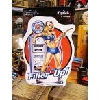 ピンナップガールのアートステッカー(Filler's Up) アメリカン雑貨