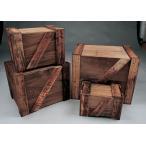 輸出用木箱 -Bタイプ-茶 Lサイズ アメリカ雑貨 アメリカン雑貨 日本製 木箱 収納 アンティーク インテリア おしゃれな部屋 カントリー雑貨