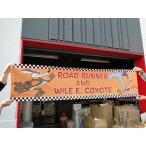 ロードランナーのレーシングバナー アメリカン雑貨 オレンジ
