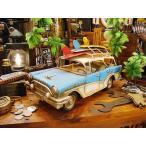 サーフワゴンのブリキカー(スカイブルー/ホワイト) アメリカ雑貨 アメリカン雑貨 人気 インテリア おしゃれな部屋 通販 ダイキャストカー 小物