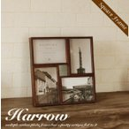 フォトフレーム 写真立て HARROW4 壁掛け 木製 ガラス 北欧 姫系 おしゃれ フォトスタンド 額 四角 スクェア