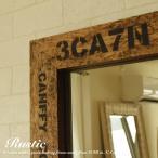 鏡 ウォールミラー 壁掛け COSM-50x100 ナチュラル ブラウン おしゃれ 長方形  北欧 姫系 玄関 洗面台 アンティーク風 木製 フラット シンプル