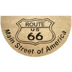 玄関マット コイヤーマット ルート66 ナチュラル Route 66 半円 ウェルカムマット 北欧 おしゃれ 屋外 屋外用 天然素材 風水 エントランスマット