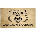 玄関マット コイヤーマット ルート66 ナチュラル Route 66 長方形 ウェルカムマット 北欧 おしゃれ 屋外 屋外用 天然素材 風水 エントランスマット