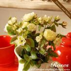 観葉植物 造花 Mini Rose ローズ バラ L  アレンジ 花瓶 花器 CT触媒 人工植物 消臭 抗菌 防菌 インテリア アートフラワー ギフト