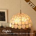 ショッピングペンダントライト ペンダントライト カピス貝 貝殻 2灯 TCZ-291 アンティーク風 北欧 キッチン ダイニング 姫系 led対応 カフェ風 おしゃれ 照明