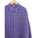 古着 大きいサイズ 90's TOMMY JEANS トミージーンズ 長袖カジュアルシャツ チェック柄 ブルー系 メンズ US-2XLサイズ hs-6710