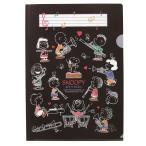 スヌーピー メモリングファイル ブラック♪この商品はお取り寄せ商品です♪【ピアノ発表会】音楽会 ブラスバンド 吹奏楽部の記念品に