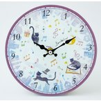Yahoo!発表会記念品専門店 カンタービレマジカルキャット 掛時計 お取り寄せ商品です。    ピアノ発表会 記念品 に最適  音楽雑貨 ねこ雑貨 バレエ雑貨  記念品に最適 音楽会粗品