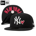 ニューエラ キャップ 59FIFTY MLB ニューヨークヤンキース ハート アンダーバイザー ニューヨーク ブラック NEW ERA