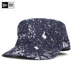 NEW ERA(ニューエラ) ワーク ミリタリー キャップ スプラッシュ ペイント インディゴデニム 帽子