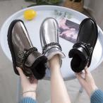 スノーブーツ レディース ブーツ シューズ 裏ボア 女性用 短靴 雪対応 防寒 滑り止め ショートブーツ 合皮 PU