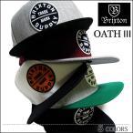 BRIXTON ブリクストン CAP キャップ OATH3 スナップバック CAP SNAPBACK ブラック メンズ レディース スケート ロンハーマン
