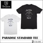 【レビュー記載でメール便送料無料】BRIXTON ブリクストン Tシャツ PARADISE ブラック ホワイト トップス スケート メンズ レディース ロンハーマン