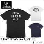 【レビュー記載でメール便送料無料】 BRIXTON ブリクストン Tシャツ LEAD ブラック ネイビー ホワイト トップス スケート メンズ レディース ロンハーマン