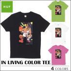 【レビュー記載でメール便送料無料】HUF/ハフ/Tシャツ/IN LIVING TEE/ブラック/ライム/ホワイト/ピンク/トップス/メンズ/レディース