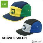 HUF ハフ キャップ cap ブラック グレー ストラップバック 帽子 ATLANTIC VOLLEY メンズ レディース スケート キース ハフナゲル