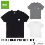 ※HUF-Tシャツ袋対象※【レビュー記載でメール便送料無料】 HUF ハフ Tシャツ BOX LOGO POCKET ブラック ポケット トップス メンズ レディース