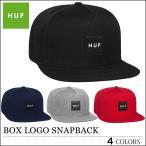 HUF キャップ BOX LOGO SNAPBACK CAP ハフ ボックスロゴ スナップバック ブラック ネイビー グレー レッド メンズ レディース スケート