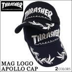 【レビュー記載で送料無料】キャップ THRASHER スラッシャー cap アポロキャップ 帽子 MAGLOGO マグロゴ ブラック ネイビー メンズ レディース スラッシャー