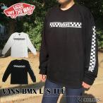 【ゆうパケット送料無料】 VANS Tシャツ バンズ ヴァンズ  長袖 ブラック ホワイト ロゴ VANS BMX L/S TEE トップス スケート ストリート