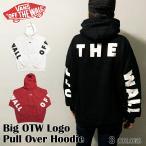 VANS バンズ パーカー 送料無料 プルオーバー 長袖  白 黒 ロゴ Big OTW Logo Pull Over Hoodie OFF THE WALL トップス スケート メンズ レディース