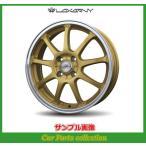 14インチ 4.5J 4H P.C.D:100 INSET:45 バドックス(BADX) ロクサーニ スポーツ SS-9 ゴールド/リムポリッシュ(2本セット)