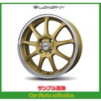 16インチ 5.0J 4H P.C.D:100 INSET:45 バドックス(BADX) ロクサーニ スポーツ SS-9 ゴールド/リムポリッシュ(2本セット)