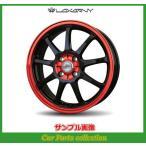 16インチ 5.0J 4H P.C.D:100 INSET:45 バドックス(BADX) ロクサーニ スポーツ SS-9 ブラック/レッドクリア(2本セット)