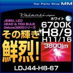 VALENTI ヴァレンティ LDJ44-H8-67 ジュエルLEDヘッド&フォグバルブ デラックス3800シリーズ 6700K H8/H9/H11/H16 ホワイト