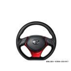 REAL レアル X10N-PBP-PBP-RDP ステアリング Dシェイプ ピアノブラックプレート[ステアリング]+パールレッド[アンダーパッド] ブラックユーロステッチ C-HR