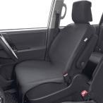 ウエットスーツ素材使用 ハイバックシート対応! 撥水&防水シートカバー フロント/前席用 1枚 ブラック/BK