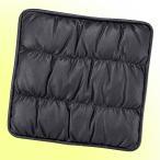 【ボンフォーム】 オーストリッチ調 レザーシングルクッション ブラック/黒 サイズ:約47×47cm