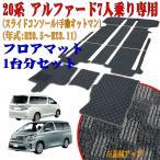 【数量限定・特別価格!】 トヨタ アルファード/ヴェルファイア 20系( 前期 H20.5〜H23.11) 専用 (7人乗り) フロアマット ラティス グレー 車1台分セット