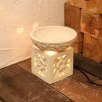 ミニ水鉢 石の灯篭 プルメリア H15 アジアン ガーデンライト ランプ 照明器具付き フラワースタンド カービングスタンド エクステリア ガーデン お庭用品