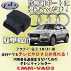 ピービー/pb製 アウディ/Audi Q3 (8U)用テレビキャンセラー CMM-VAD3